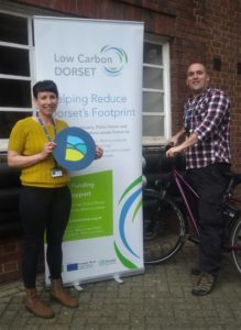 Low Carbon Dorset officers Katie Dawes and Dr Derek Moss
