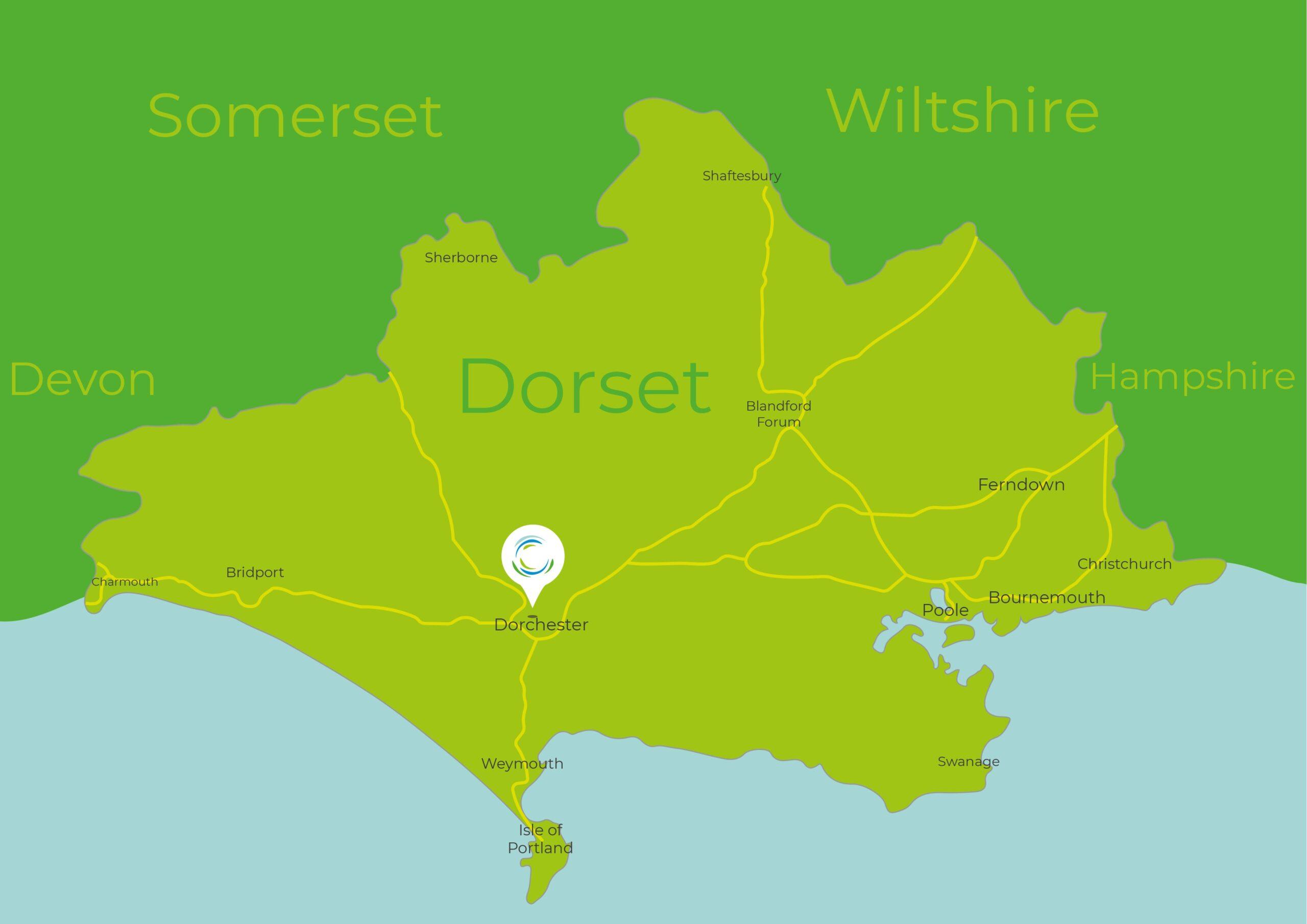 Dorset History Centre Main Map Image
